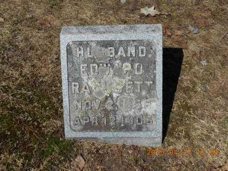 RAGUSETT, EDWARD - Marquette County, Michigan | EDWARD RAGUSETT - Michigan Gravestone Photos