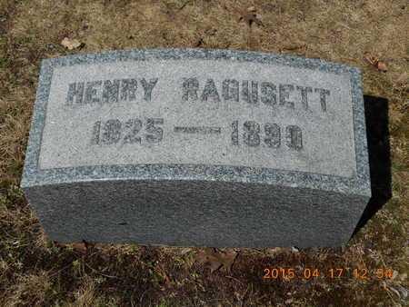 RAGUSETT, HENRY - Marquette County, Michigan | HENRY RAGUSETT - Michigan Gravestone Photos