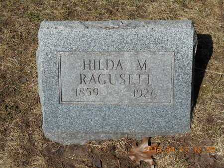 RAGUSETT, HILDA M. - Marquette County, Michigan   HILDA M. RAGUSETT - Michigan Gravestone Photos
