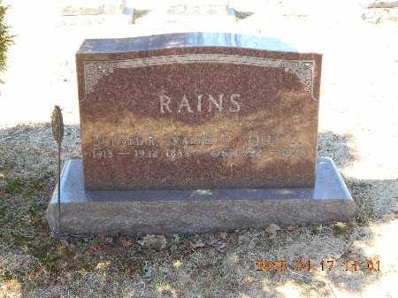 RAINS, RALPH J. - Marquette County, Michigan | RALPH J. RAINS - Michigan Gravestone Photos