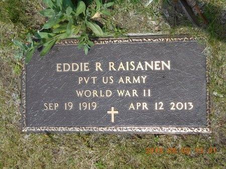 RAISANEN, EDDIE R. - Marquette County, Michigan | EDDIE R. RAISANEN - Michigan Gravestone Photos
