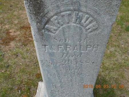 RALPH, ARTHUR - Marquette County, Michigan | ARTHUR RALPH - Michigan Gravestone Photos