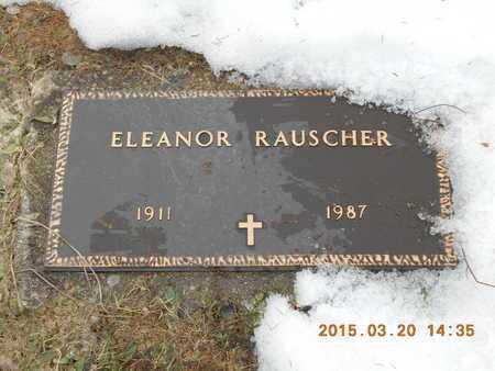 RAUSCHER, ELEANOR - Marquette County, Michigan | ELEANOR RAUSCHER - Michigan Gravestone Photos
