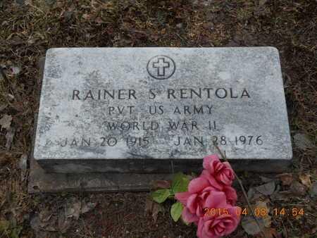RENTOLA, RAINER S. - Marquette County, Michigan | RAINER S. RENTOLA - Michigan Gravestone Photos