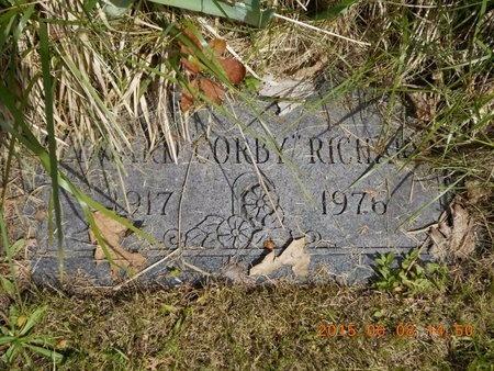 "RICHARD, EDWARD ""CORBY"" - Marquette County, Michigan | EDWARD ""CORBY"" RICHARD - Michigan Gravestone Photos"