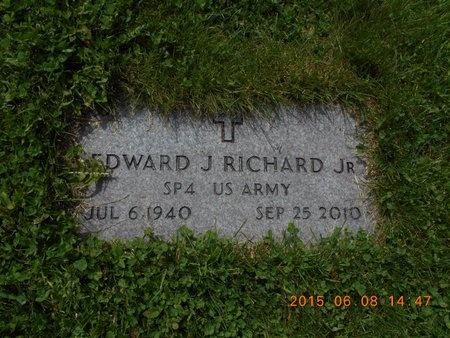 RICHARD, JR., EDWARD J. - Marquette County, Michigan   EDWARD J. RICHARD, JR. - Michigan Gravestone Photos