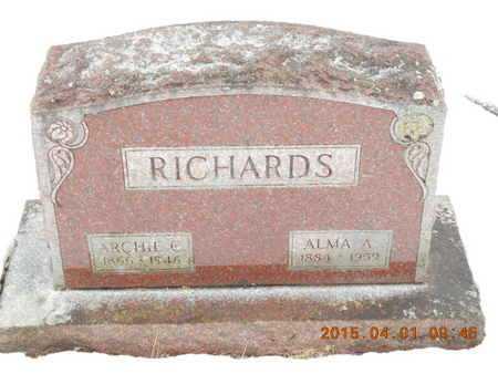 KUKUK RICHARDS, ALMA A. - Marquette County, Michigan | ALMA A. KUKUK RICHARDS - Michigan Gravestone Photos