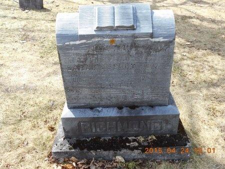 RICHMOND, SARAH - Marquette County, Michigan | SARAH RICHMOND - Michigan Gravestone Photos