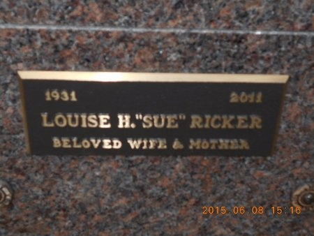 RICKER, LOUISE H. - Marquette County, Michigan | LOUISE H. RICKER - Michigan Gravestone Photos