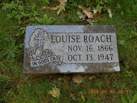 ROACH, LOUISE - Marquette County, Michigan | LOUISE ROACH - Michigan Gravestone Photos