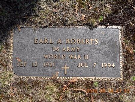 ROBERTS, EARL A. - Marquette County, Michigan   EARL A. ROBERTS - Michigan Gravestone Photos