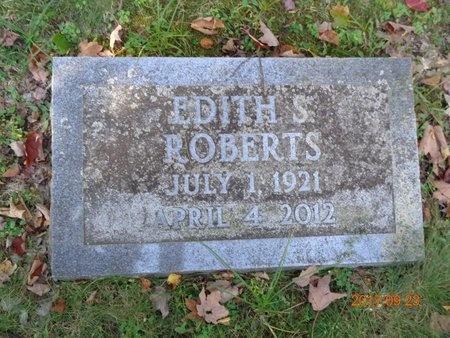 ROBERTS, EDITH S. - Marquette County, Michigan   EDITH S. ROBERTS - Michigan Gravestone Photos