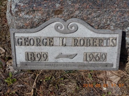 ROBERTS, GEORGE L. - Marquette County, Michigan | GEORGE L. ROBERTS - Michigan Gravestone Photos