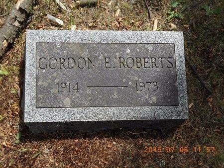 ROBERTS, GORDON E. - Marquette County, Michigan   GORDON E. ROBERTS - Michigan Gravestone Photos