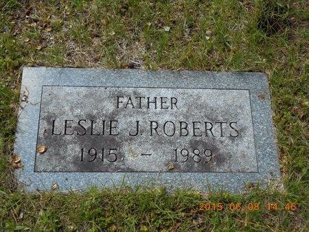 ROBERTS, LESLIE J. - Marquette County, Michigan | LESLIE J. ROBERTS - Michigan Gravestone Photos