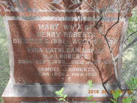 ROBERTS, NINA LATHLEAN - Marquette County, Michigan | NINA LATHLEAN ROBERTS - Michigan Gravestone Photos