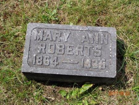 ROBERTS, MARY ANN - Marquette County, Michigan | MARY ANN ROBERTS - Michigan Gravestone Photos