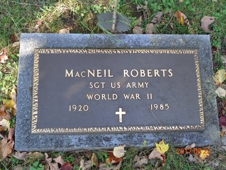 ROBERTS, MACNEIL - Marquette County, Michigan | MACNEIL ROBERTS - Michigan Gravestone Photos