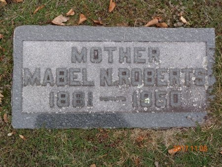 ROBERTS, MABEL N. - Marquette County, Michigan | MABEL N. ROBERTS - Michigan Gravestone Photos