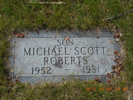 ROBERTS, MICHAEL SCOTT - Marquette County, Michigan | MICHAEL SCOTT ROBERTS - Michigan Gravestone Photos