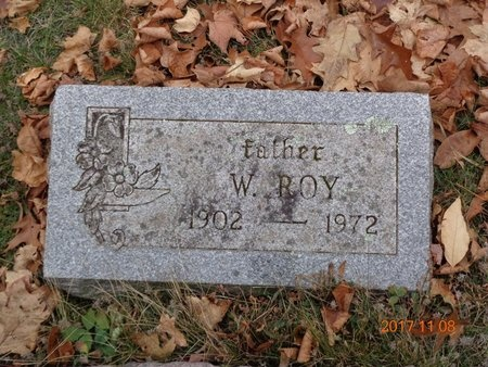ROBERTS, W. ROY - Marquette County, Michigan | W. ROY ROBERTS - Michigan Gravestone Photos