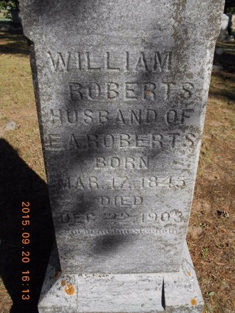 ROBERTS, WILLIAM - Marquette County, Michigan | WILLIAM ROBERTS - Michigan Gravestone Photos