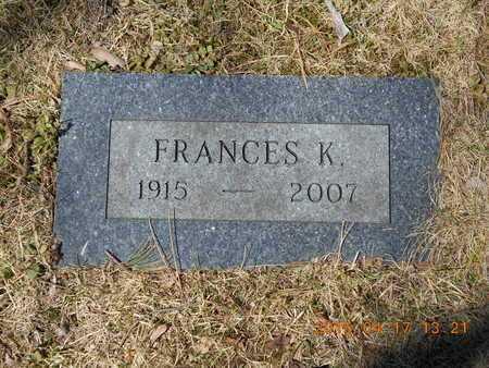 ROBERTSON, FRANCES K. - Marquette County, Michigan | FRANCES K. ROBERTSON - Michigan Gravestone Photos