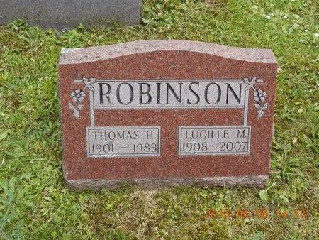 ROBINSON, LUCILLE M. - Marquette County, Michigan | LUCILLE M. ROBINSON - Michigan Gravestone Photos