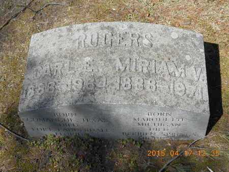 ROGERS, CARL E. - Marquette County, Michigan | CARL E. ROGERS - Michigan Gravestone Photos