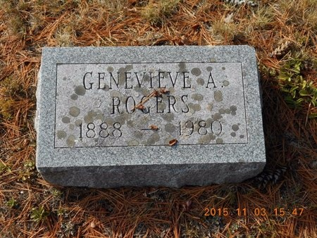 ROGERS, GENEVIEVE A. - Marquette County, Michigan | GENEVIEVE A. ROGERS - Michigan Gravestone Photos