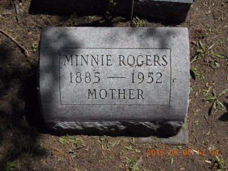 ROGERS, MINNIE - Marquette County, Michigan | MINNIE ROGERS - Michigan Gravestone Photos