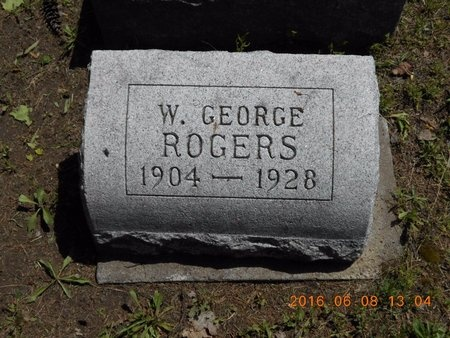 ROGERS, W. GEORGE - Marquette County, Michigan | W. GEORGE ROGERS - Michigan Gravestone Photos