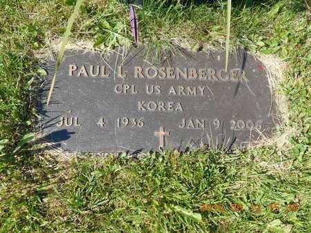 ROSENBERGER, PAUL L. - Marquette County, Michigan | PAUL L. ROSENBERGER - Michigan Gravestone Photos