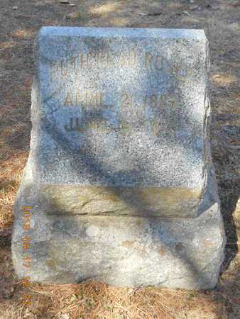 READ ROSER, RUTH - Marquette County, Michigan   RUTH READ ROSER - Michigan Gravestone Photos