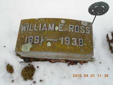 ROSS, WILLIAM E. - Marquette County, Michigan   WILLIAM E. ROSS - Michigan Gravestone Photos