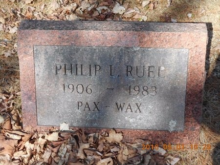 RUEL, PHILIP L. - Marquette County, Michigan | PHILIP L. RUEL - Michigan Gravestone Photos