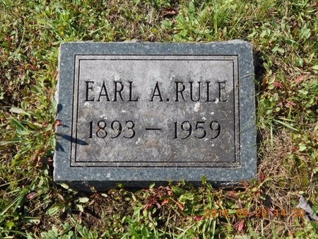 RULE, EARL A. - Marquette County, Michigan | EARL A. RULE - Michigan Gravestone Photos