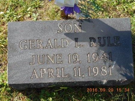 RULE, GERALD L. - Marquette County, Michigan   GERALD L. RULE - Michigan Gravestone Photos
