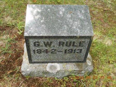 RULE, G.W. - Marquette County, Michigan | G.W. RULE - Michigan Gravestone Photos