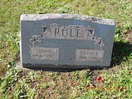 RULE, ESTHER - Marquette County, Michigan | ESTHER RULE - Michigan Gravestone Photos