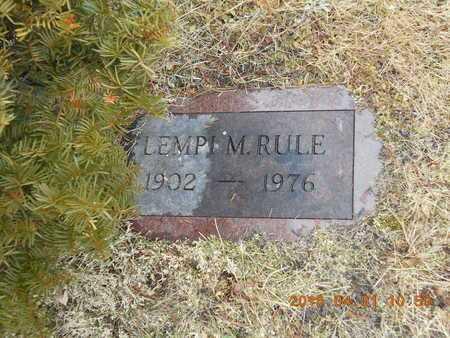 RULE, LEMPI M. - Marquette County, Michigan | LEMPI M. RULE - Michigan Gravestone Photos