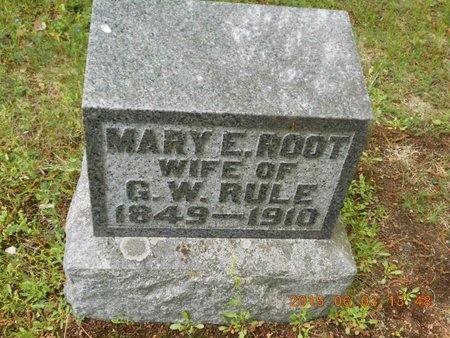 RULE, MARY E. - Marquette County, Michigan | MARY E. RULE - Michigan Gravestone Photos