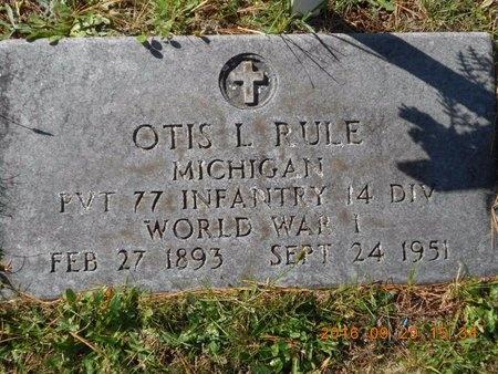 RULE, OTIS L. - Marquette County, Michigan | OTIS L. RULE - Michigan Gravestone Photos
