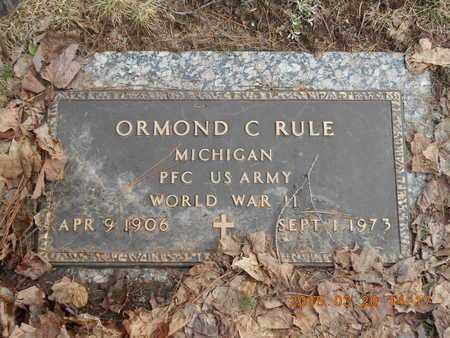 RULE, ORMOND C. - Marquette County, Michigan | ORMOND C. RULE - Michigan Gravestone Photos