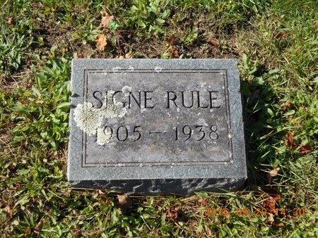 RULE, SIGNE - Marquette County, Michigan | SIGNE RULE - Michigan Gravestone Photos