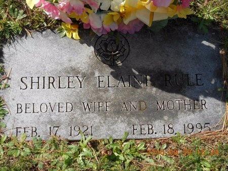 RULE, SHIRLEY ELAINE - Marquette County, Michigan | SHIRLEY ELAINE RULE - Michigan Gravestone Photos
