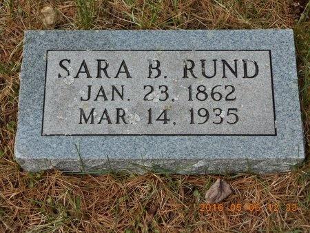 RUND, SARA B. - Marquette County, Michigan | SARA B. RUND - Michigan Gravestone Photos