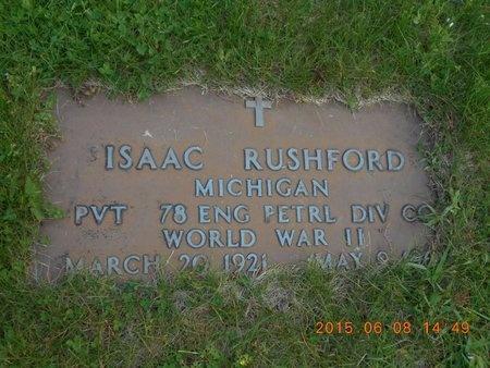 RUSHFORD, ISAAC - Marquette County, Michigan   ISAAC RUSHFORD - Michigan Gravestone Photos
