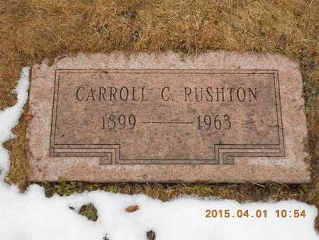 RUSHTON, CARROLL C. - Marquette County, Michigan | CARROLL C. RUSHTON - Michigan Gravestone Photos