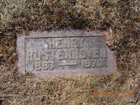 RUSTENHOVEN, HENRY - Marquette County, Michigan | HENRY RUSTENHOVEN - Michigan Gravestone Photos